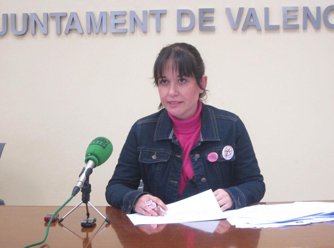 La concejala de EU, Rosa Albert, en el consistorio/eu
