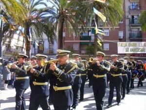 La banda Santa Cecilia de Alfafar en el certamen de NPJ de la Sentencia en marzo de 2012