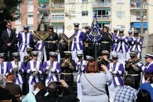 La banda de Nuestro Padre Jesús de la Sentencia en su certamen de presentación celebrado en marzo de este año