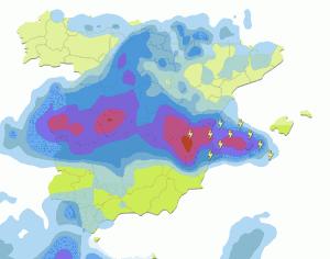 La previsión de mayor lluvia se espera para la madrugada del sábado/eltiempo.es