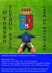 Cartel del torneo de fútbol que tiene lugar en el Parque de Marxalenes/CdA