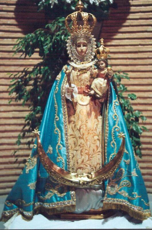 La imagen de la Virgen de la Fuensanta del barrio que lleva su nombre en Valencia/fiestassancristóbal