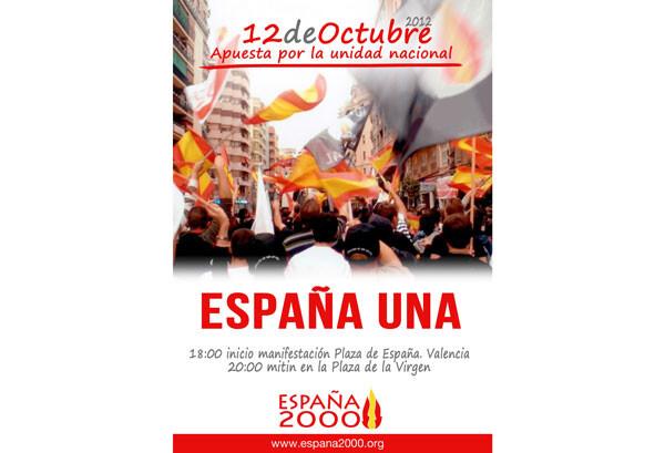 Cartel oficial anunciando la marcha/España 2000