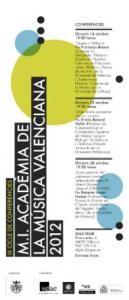 Cartel de las conferencias de la Academia de la Música