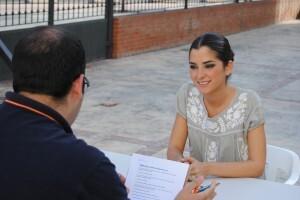 Alba Ballester, durante la entrevista/Sergio Blanco