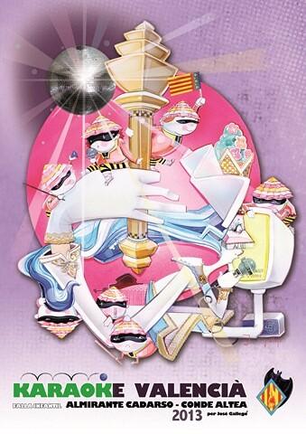 Boceto de la Falla Infantil 2013 de Almirante Cadarso - Conde de Altea