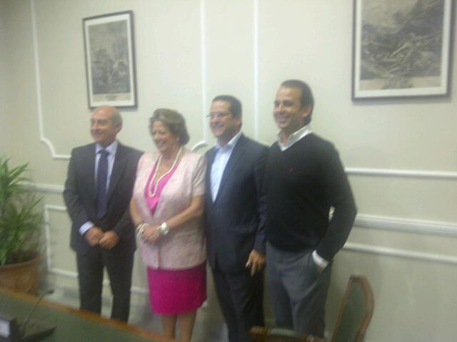 La alcaldesa con Novo, Bellver y Mendoza/vlcciudad