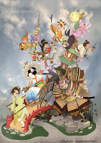 Boceto Falla grande 2013 de Cuba - Literato Azorín