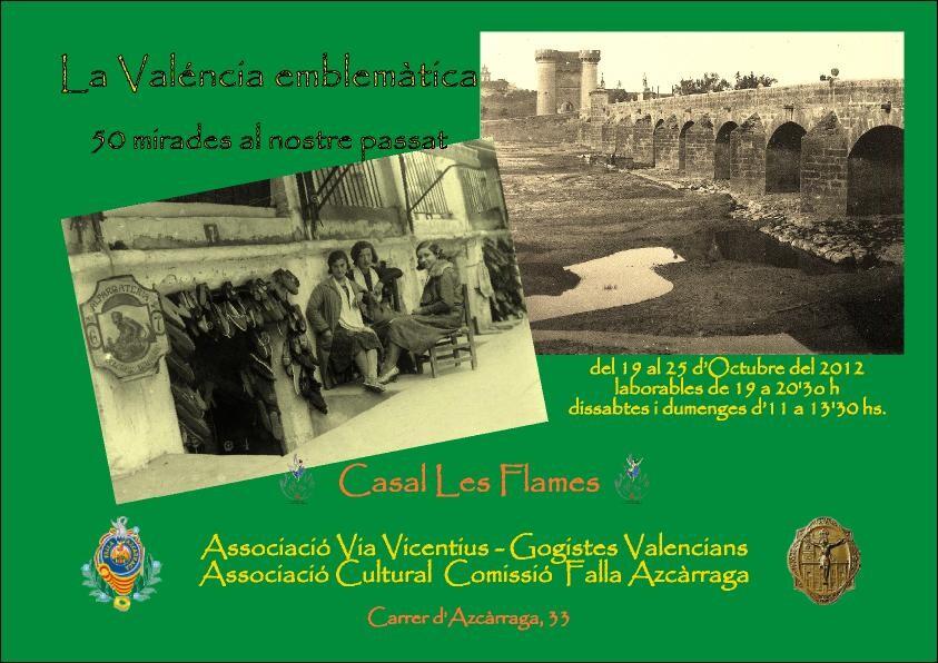 El cartel confeccionado para la exposición en la falla Azcárraga