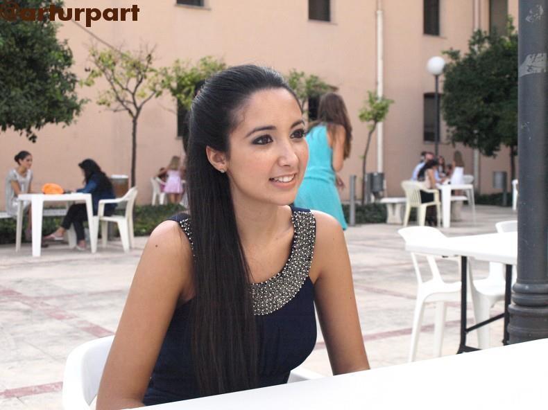 Jéssica Domínguez durante la entrevista en la Junta Central Fallera/Sergio Blanco