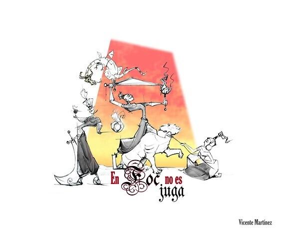 Boceto de la Falla grande 2013 de L'Antiga de Campanar