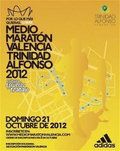 Cartel oficial de la media maratón de Valencia