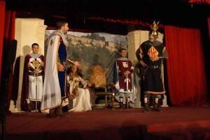 Un momento de la representación que se ha recuperado en Llutxent éste año/ateneo