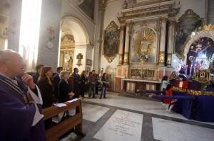 Un momento de la misa en la parroquia de Santa Mónica/j.peiró-AVAN