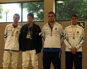 Podium masculino del campeonato autonómico celebrado en Benimaclet/savlc