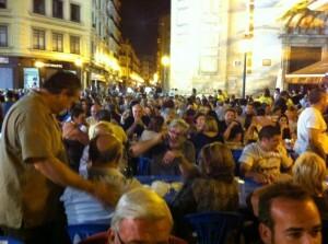 Asistentes a la cena de la Agrupación de Fallas de Russafa/AFR
