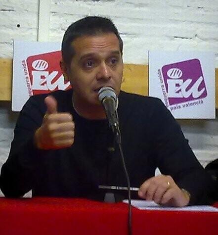 Amadeu Sanchis, en un acto de la formación de EU/eu