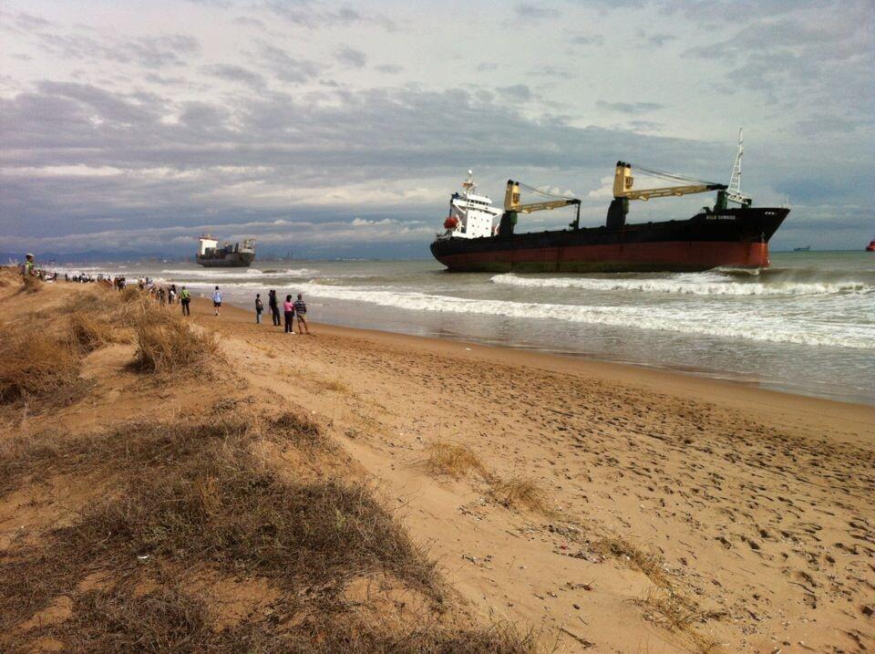 El BSL Sunrise sólo se ha logrado llevar mar adentro unos 50 metros
