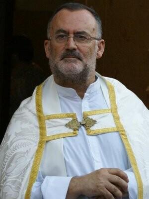 El párroco José Luis Barrera