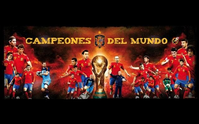 Cartel de la selección con la Copa del Mundo que se expondrá en Marxalenes