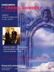 Cartel del concierto de la iglesia de San Josemaría Escriva