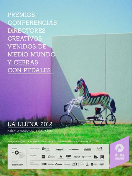 Cartel de la campaña para el Festival La Lluna 2012