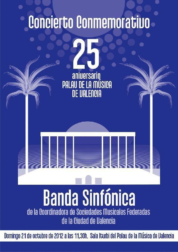 Cartel del concierto conmemorativo del Palau de la Música/coordinadora