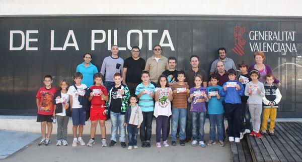 En Pelayo se presentan las escuelas municipales de pilota de la ciudad de Valencia
