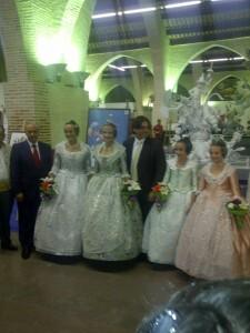 El edil de Fiestas, las falleras mayores de Valencia, las de Convento y el artista Pedro Santaeulalia/vlcciudad