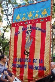 Bandera de la formación valencianista GAV/vlcciudad