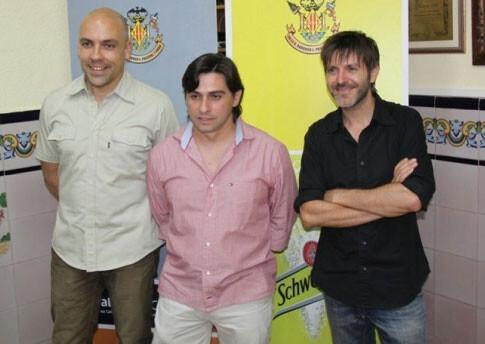 Paco Roca junto a Javier Igualada y Fede Ferrer. Foto: Ángel Romero