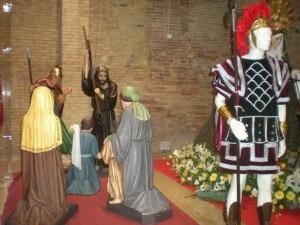 Las figuras del grupo escultórico de Los Longinos en el Museo/longinos