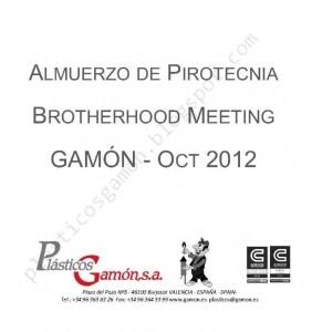 Invitación oficial a la comida de confraternidad de Gamón con los pirotécnicos/gamón