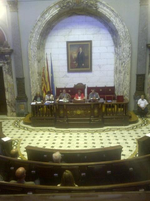 La alcaldesa durante el pleno de renuncia de Bellver y Torrado/vlcciudad