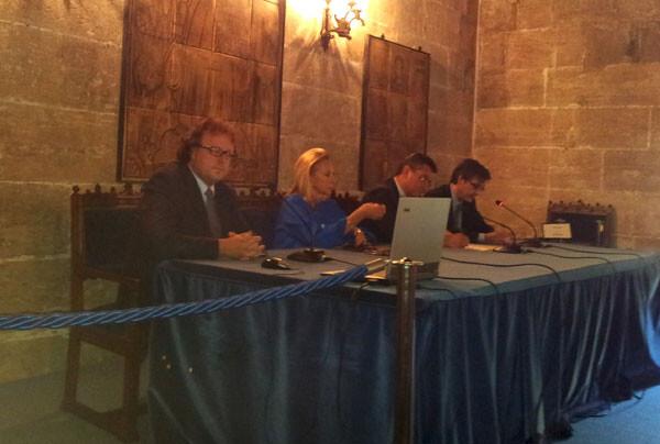 Presentación del Foro del Origen Valenciano del Ajedrez, en La Lonja de Valencia
