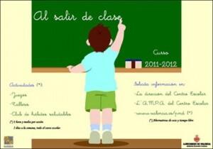 """Cartel del programa """" Al Salir de Clase"""" del curso pasado"""