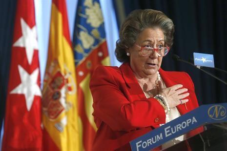 La alcaldesa, Rita Barberá, hace unos días en el Forum