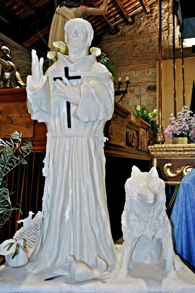 Imagen de San Francisco de Asis en el museo de la Semana Santa Marinera/rafa montesinos