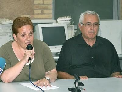 La presidenta de la junta mayor de la Semana Santa Marinera, Begoña Sorolla, y el prior, Juan Pedro Escudero