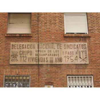 Uno de los rótulos en el barrio Virgen de los Desamparados
