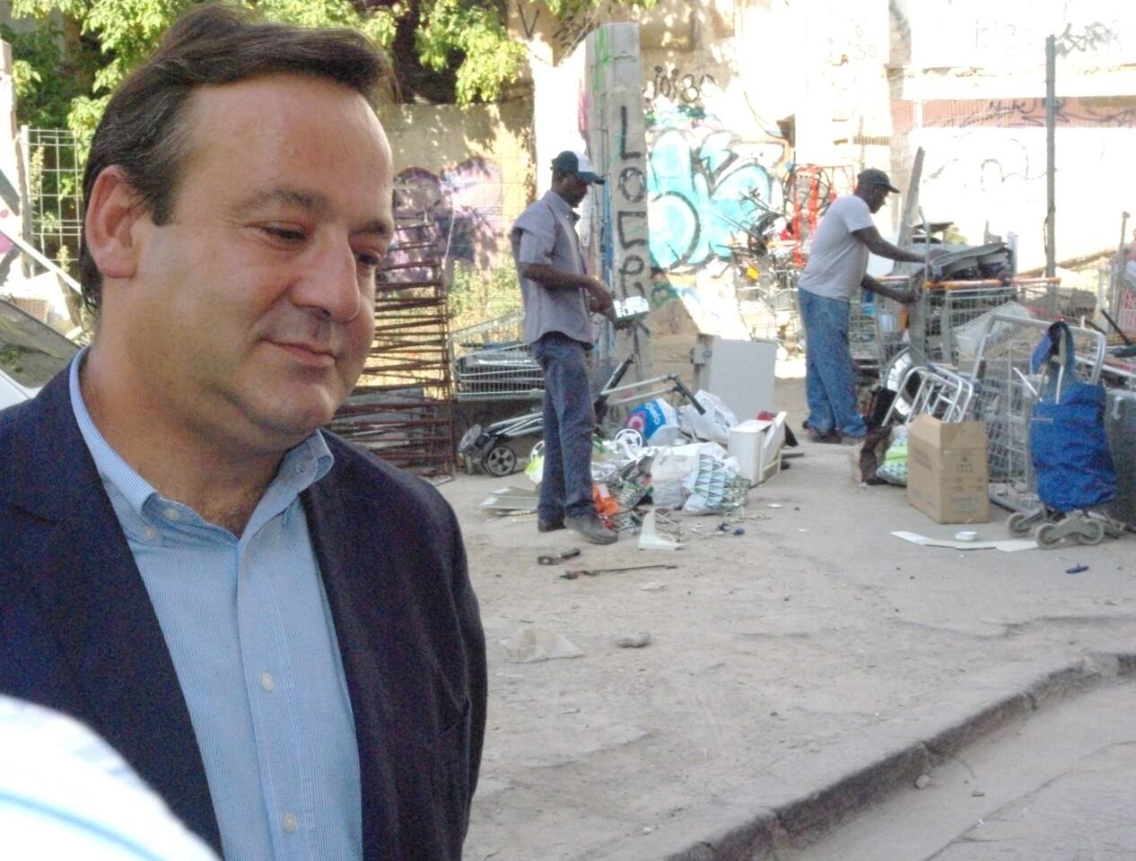 El concejal Vicente Sarriá