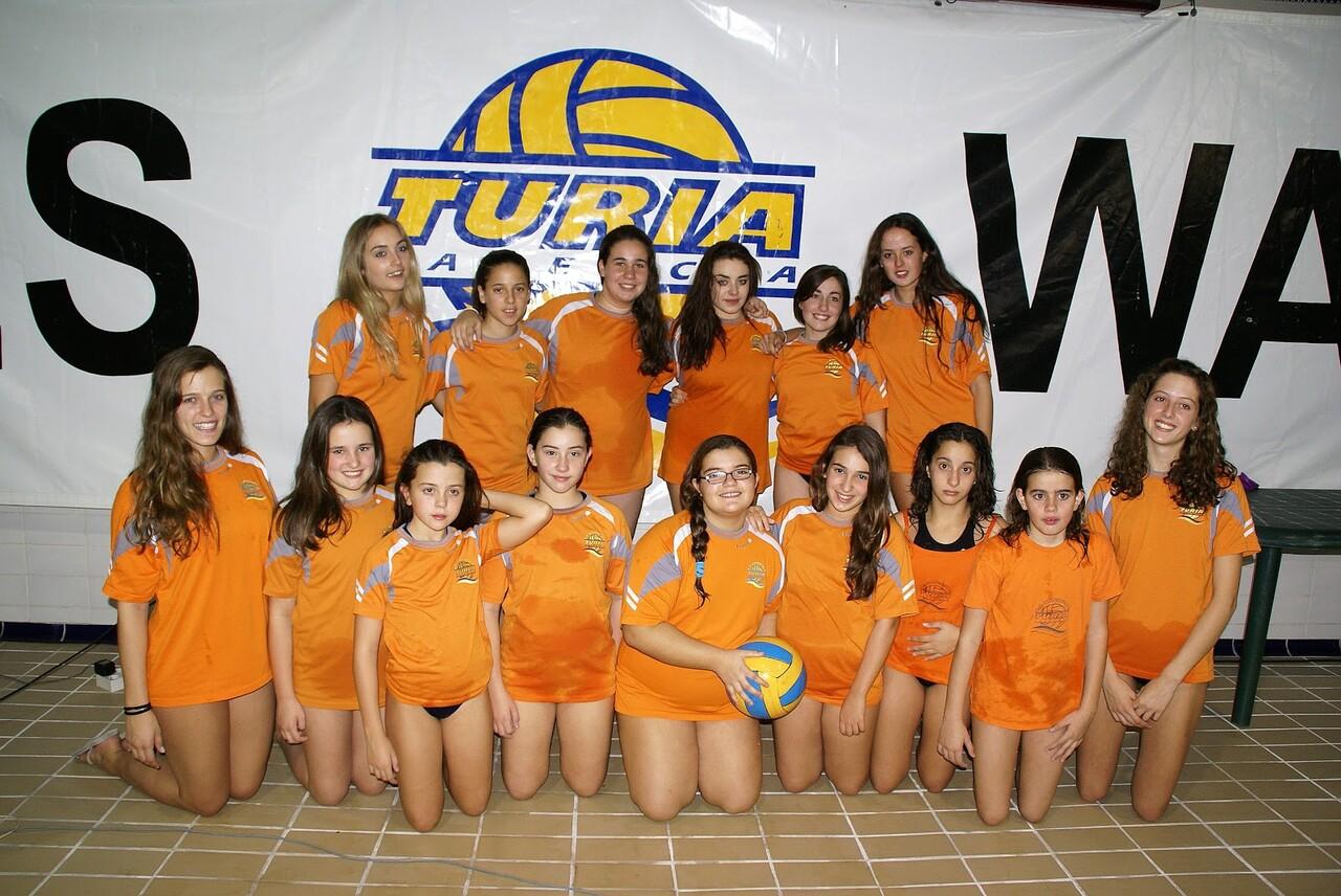 Las componentes el equipo femenino del Waterpolo Turia/wt.-