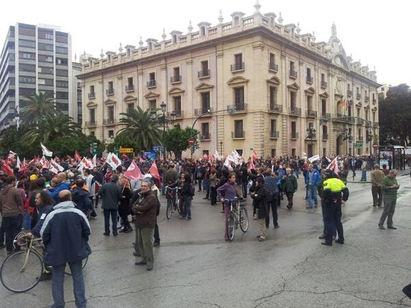 Valencia Huelga General 14N