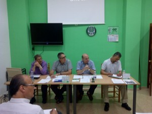 La junta directiva de Cavecova en una asamblea hace unos meses/cavecova
