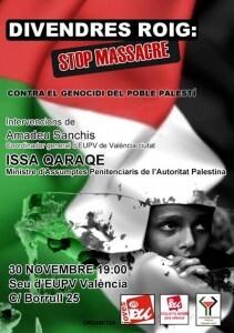 Cartel del acto en pro de Palestina/jeu