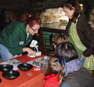 Bioparc Valencia - familia en la semana de la Ciencia - educador con lupas