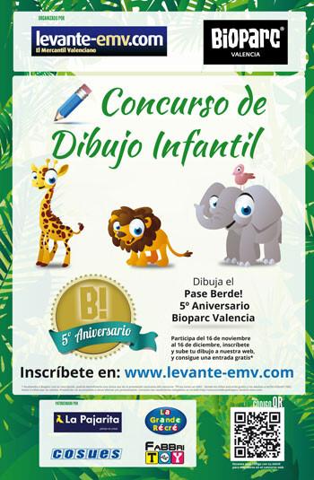 Cartel del Concurso Infantil de Dibujo Bioparc Valencia