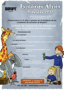 Cartel Expedición África Navidad 2012 en Bioparc Valencia