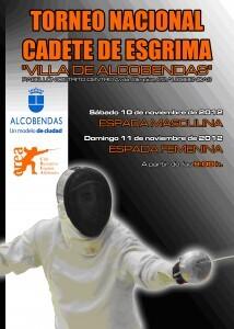 Cartel de la jornada de esgrima en Alcobendas/vlcciudad