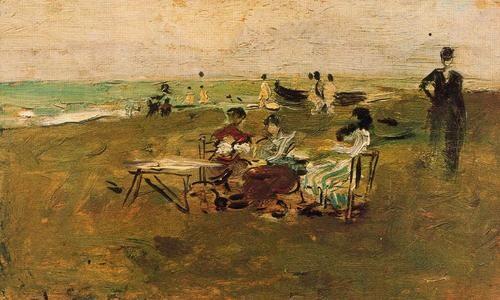 Escena de playa de Ignacio Pinazo
